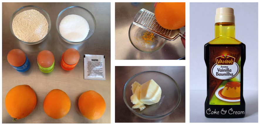 Ingredientes de Pastelitos de Naranja